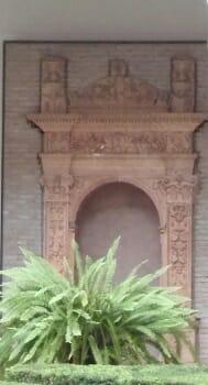 Hornacina del Claustro de los Bojes del Museo de Bellas Artes de Sevilla