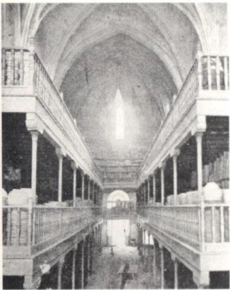 Almacén de loza en la Iglesia del Monasterio de la Cartuja (Fuente: Maestre, 1993, p.55)