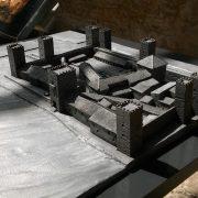 Maqueta del Castillo de San Jorge situada en la barbacana. Foto: Francisco Calvo