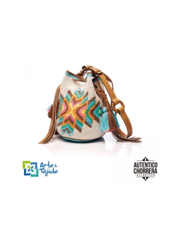 Arte y Tejido, Mochila Apaches, Chorrera, Mochila, Tejida, Knitted, Crochet, Natural Fibers, Algodón, Cotton, Fibras Naturales, Bag, Apaches