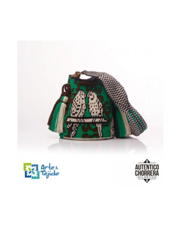 Arte y Tejido, Mochila Bird, Chorrera, Mochila, Tejida, Knitted, Crochet, Natural Fibers, Algodón, Cotton, Fibras Naturales, Bag, Bird