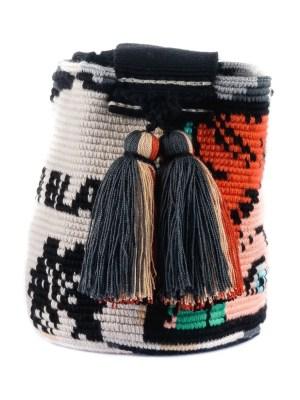 Arte y Tejido, Mochila Bla-Bla, Chorrera, Mochila, Tejida, Knitted, Crochet, Natural Fibers, Algodón, Cotton, Fibras Naturales, Bag, Bla Bla