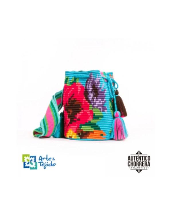 Arte y Tejido, Mochila Bromelia, Chorrera, Mochila, Tejida, Knitted, Crochet, Natural Fibers, Algodón, Cotton, Fibras Naturales, Bag, Bromelia