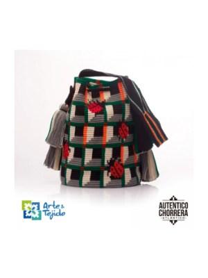 Arte y Tejido, Mochila Bugs, Chorrera, Mochila, Tejida, Knitted, Crochet, Natural Fibers, Algodón, Cotton, Fibras Naturales, Bag, Bugs