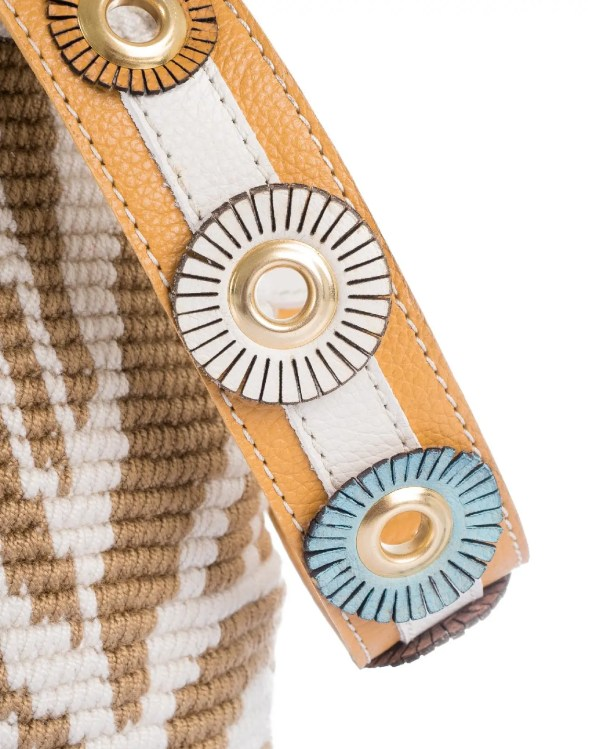 Arte y Tejido, Chorrera, Mochila, Tejida, Knitted, Crochet, Natural Fibers, Algodón, Cotton, Fibras Naturales, Bag, Cairo, Frenesí, Mochila Cairo
