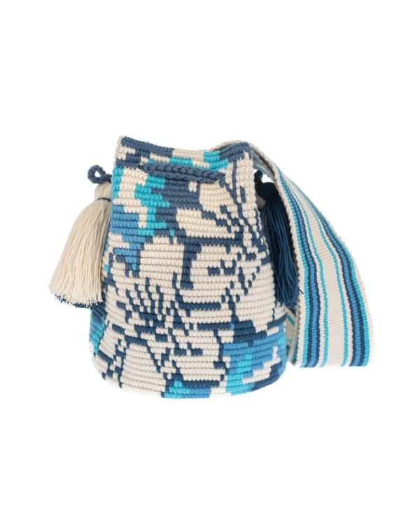 Arte y Tejido, Mochila Camou, Chorrera, Mochila, Tejida, Knitted, Crochet, Natural Fibers, Algodón, Cotton, Fibras Naturales, Bag, Camou