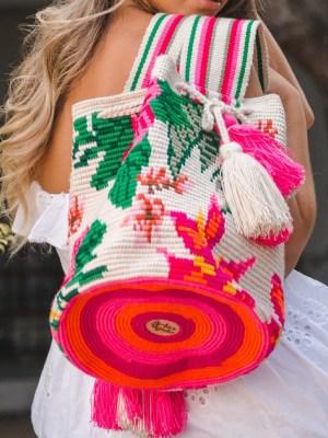 Arte y Tejido, Mochila Cayena, Chorrera, Mochila, Tejida, Knitted, Crochet, Natural Fibers, Algodón, Cotton, Fibras Naturales, Bag, Cayena