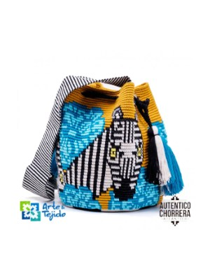 Arte y Tejido, Mochila Cebra, Chorrera, Mochila, Tejida, Knitted, Crochet, Natural Fibers, Algodón, Cotton, Fibras Naturales, Bag, Cebra