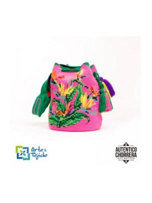 Arte y Tejido, Mochila Cotorra, Chorrera, Mochila, Tejida, Knitted, Crochet, Natural Fibers, Algodón, Cotton, Fibras Naturales, Bag, Cotorra