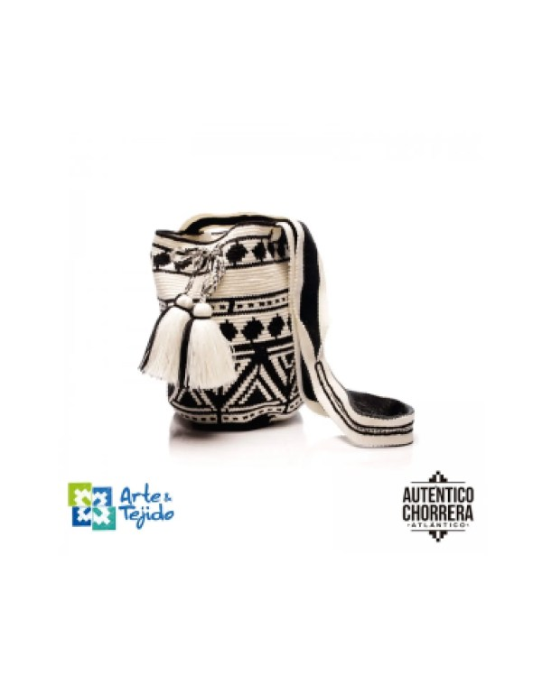 Arte y Tejido, Mochila Dinka, Chorrera, Mochila, Tejida, Knitted, Crochet, Natural Fibers, Algodón, Cotton, Fibras Naturales, Bag, Dinka