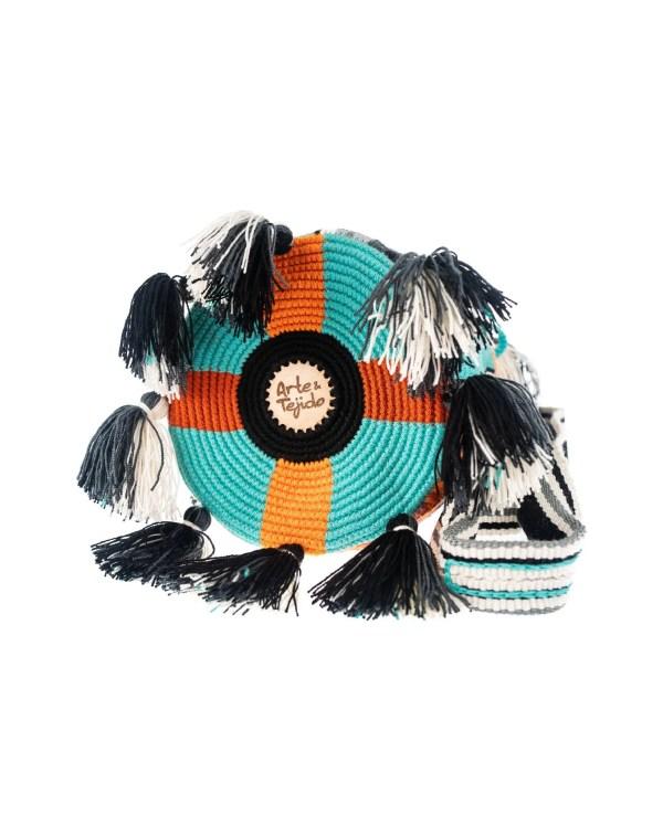 Arte y Tejido, Mochila Grafy, Chorrera, Mochila, Tejida, Knitted, Crochet, Natural Fibers, Algodón, Cotton, Fibras Naturales, Bag, Grafy