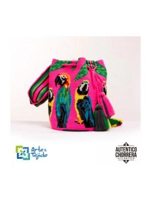 Arte y Tejido, Mochila Guacamaya, Chorrera, Mochila, Tejida, Knitted, Crochet, Natural Fibers, Algodón, Cotton, Fibras Naturales, Bag, Guacamaya