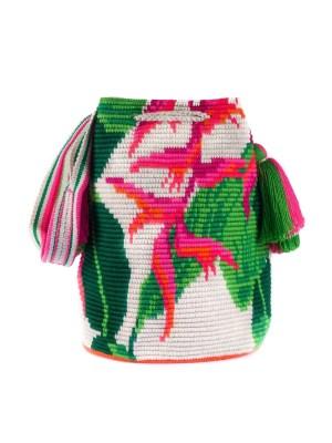 Arte y Tejido, Mochila Heliconia, Chorrera, Mochila, Tejida, Knitted, Crochet, Natural Fibers, Algodón, Cotton, Fibras Naturales, Bag, Heliconia