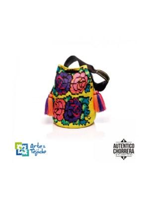 Arte y Tejido, Mochila Kahlo, Chorrera, Mochila, Tejida, Knitted, Crochet, Natural Fibers, Algodón, Cotton, Fibras Naturales, Bag, Kahlo