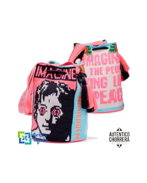 Arte y Tejido, Mochila Lennon, Chorrera, Mochila, Tejida, Knitted, Crochet, Natural Fibers, Algodón, Cotton, Fibras Naturales, Bag, Lennon