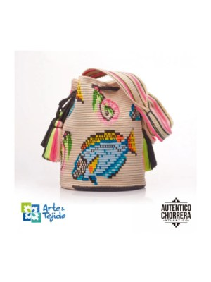 Arte y Tejido, Mochila Marlin, Chorrera, Mochila, Tejida, Knitted, Crochet, Natural Fibers, Algodón, Cotton, Fibras Naturales, Bag, Marlin