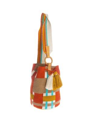 Arte y Tejido, Mochila Mingly, Chorrera, Mochila, Tejida, Knitted, Crochet, Natural Fibers, Algodón, Cotton, Fibras Naturales, Bag, Mingly