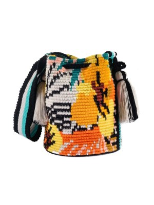 Arte y Tejido, Mochila Mint, Chorrera, Mochila, Tejida, Knitted, Crochet, Natural Fibers, Algodón, Cotton, Fibras Naturales, Bag, Mint