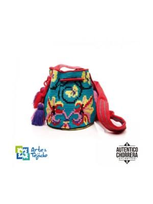 Arte y Tejido, Mochila Mosaico, Chorrera, Mochila, Tejida, Knitted, Crochet, Natural Fibers, Algodón, Cotton, Fibras Naturales, Bag, Mosaico