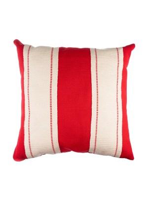Arte y Tejido, Cojín Mumbai Rojo, Mumbai Cushion Red, Chorrera, Cojín, Cushion, Tejido, Knitted, Crochet, Natural Fibers, Algodón, Cotton, Fibras Naturales, Mumbai, Rojo, Red