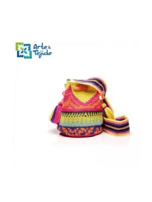 Arte y Tejido, Mochila Naram, Chorrera, Mochila, Tejida, Knitted, Crochet, Natural Fibers, Algodón, Cotton, Fibras Naturales, Bag, Naram