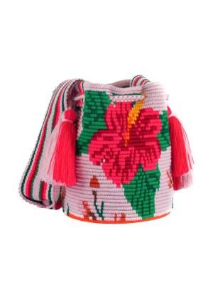 Arte y Tejido, Mochila Pinky, Chorrera, Mochila, Tejida, Knitted, Crochet, Natural Fibers, Algodón, Cotton, Fibras Naturales, Bag, Pinky