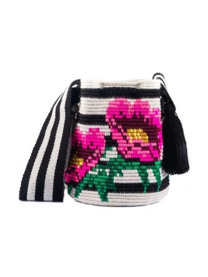 Arte y Tejido, Mochila Plutin, Chorrera, Mochila, Tejida, Knitted, Crochet, Natural Fibers, Algodón, Cotton, Fibras Naturales, Bag, Plutin