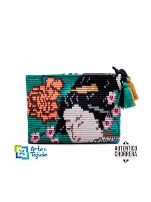 Arte y Tejido, Mochila Sakura, Chorrera, Mochila, Tejida, Knitted, Crochet, Natural Fibers, Algodón, Cotton, Fibras Naturales, Bag, Sakura