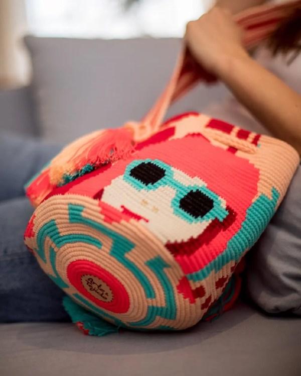 Arte y Tejido, Chorrera, Mochila, Tejida, Knitted, Crochet, Natural Fibers, Algodón, Cotton, Fibras Naturales, Bag, Suk, Mochila Suk