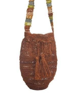 Arte y Tejido, Chorrera, Mochila, Tejida, Knitted, Crochet, Natural Fibers, Algodón, Cotton, Fibras Naturales, Bag, Uitoto, Frenesí