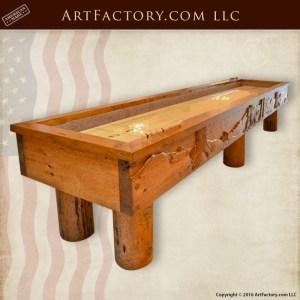 Crude Log Shuffleboard Table