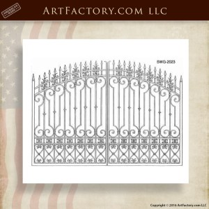 Custom Scrollwork Gate Designs