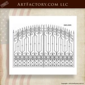 Custom Scrollwork Gate Designs