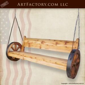 Solid Wood Patio Swing