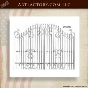 Decorative Iron Security Gate