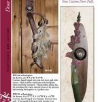 custom hand forged door pull