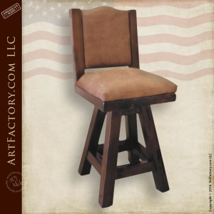 Handcrafted Swivel Bar Stool