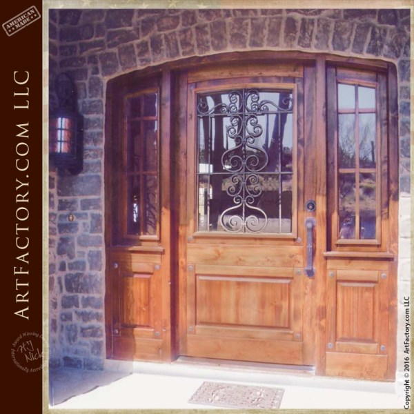 Historic Craftsman Design Castle Doors Aragonese Castle