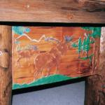 Pool Table Solid Copper Inlaid Wilderness Theme