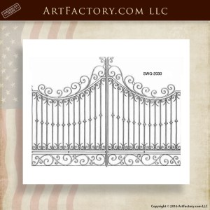 Scroll Top Gate Designs