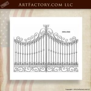 Scroll Top Gate Designs