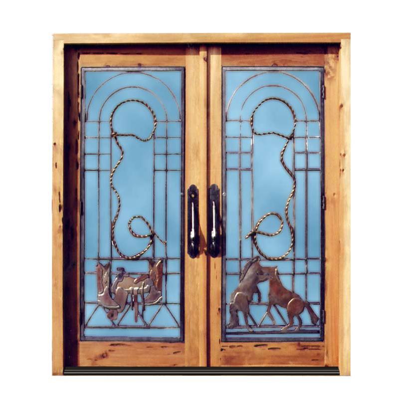 western style double doors