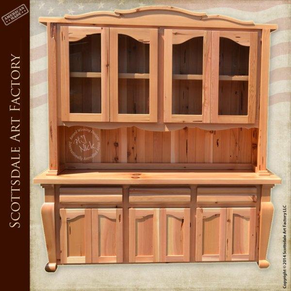 Wooden China Hutch ~ Display hutch china cabinet wood