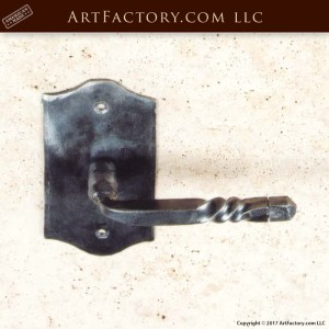 center twist lever pull on recessed plank wood panel door