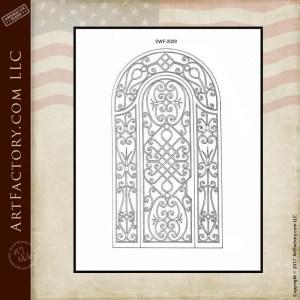 Decorative Custom Entrance Gate Design: Hand Forged Wrought Iron