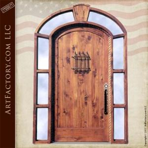 custom handcrafted grand entrance door