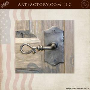 elegant hand forged door handle