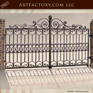 wrought iron gates, castle gates, custom iron gate
