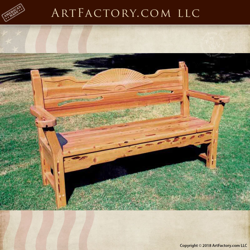 Superieur Hand Carved Solid Wood Bench
