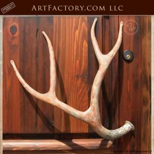 iron deer antler door pulls